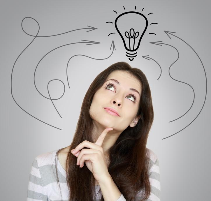 Woman with Lightbulb