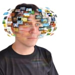 Visuals - man with swirling images