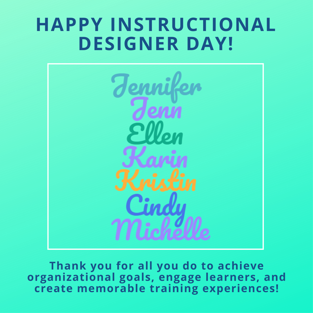Instructional Designer Day celebration blog