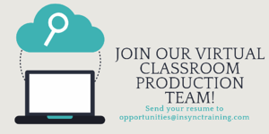 11192018 Join Our Virtual Classroom Production Team blog twitter