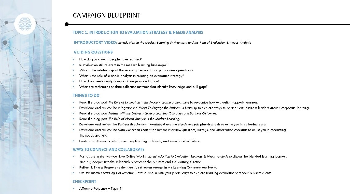 Blended learning campaign blueprint